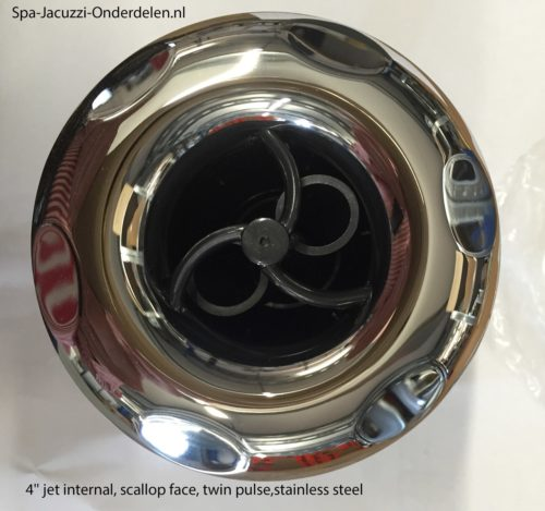 4'' jet internal, scallop face, twin pulse,stainless steel face, screw in, RD203-4423SC.