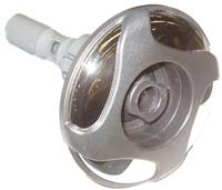 Poly storm jet swirl rifled stainless steel, large face dark silver glitter 101mm.