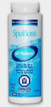 PH Reducer 500ML, SpaBoss. Om het PH niveau in uw spa, jacuzzi te verlagen.